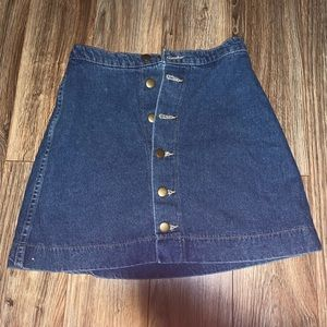 American apparel button down jean skirt